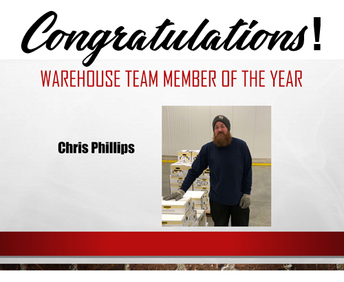Warehouse Team Member of the Year